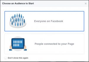 select your audience facebook
