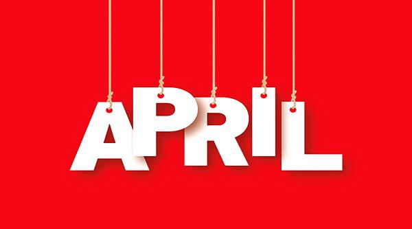 social media calendar April