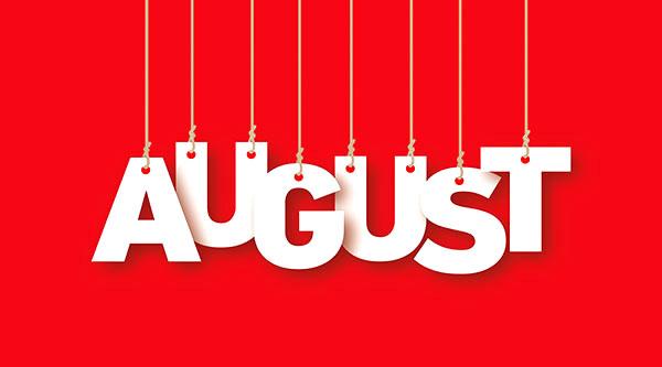 social media calendar August 2017