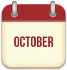 social media calendar for October 2017