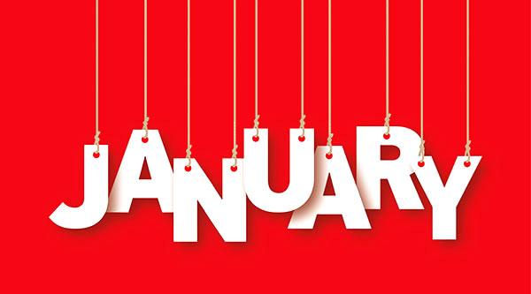 social media calendar January 2017