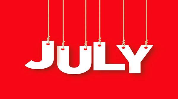 social media calendar July 2017