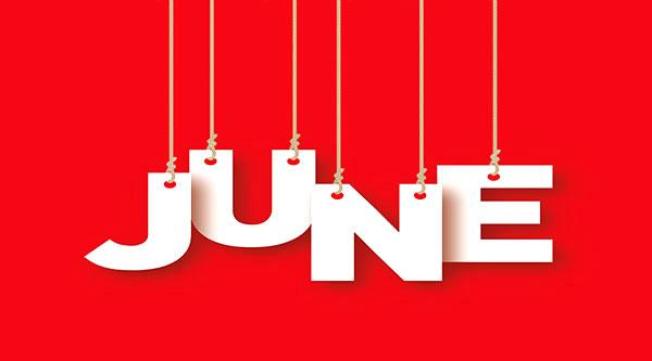 social media calendar June 2017