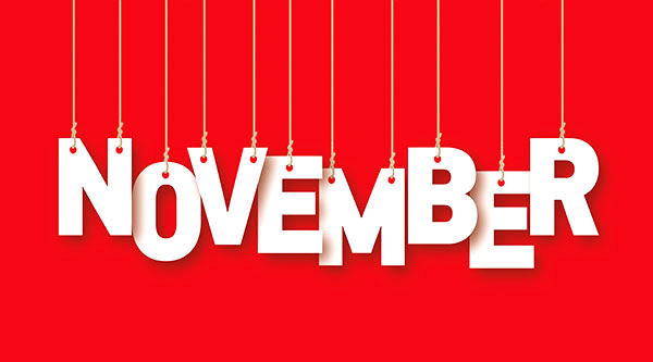 social media calendar November 2017