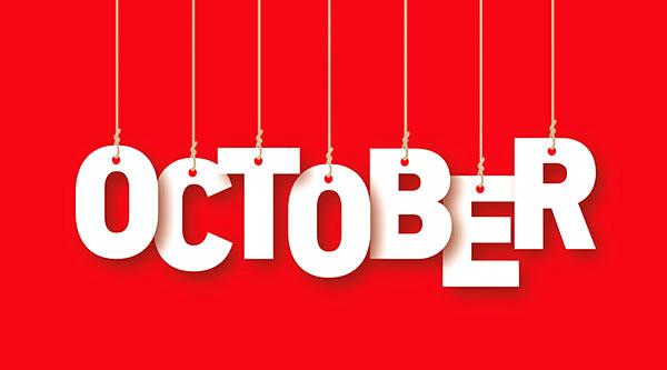 social media calendar October 2017