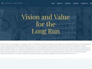 Legion Partners Website Design