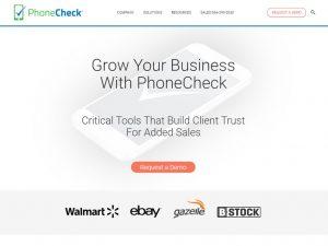 Website Design   B2B Marketing PhoneCheck