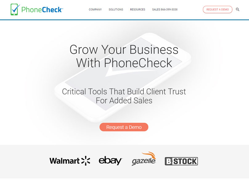 Website Design | B2B Marketing PhoneCheck