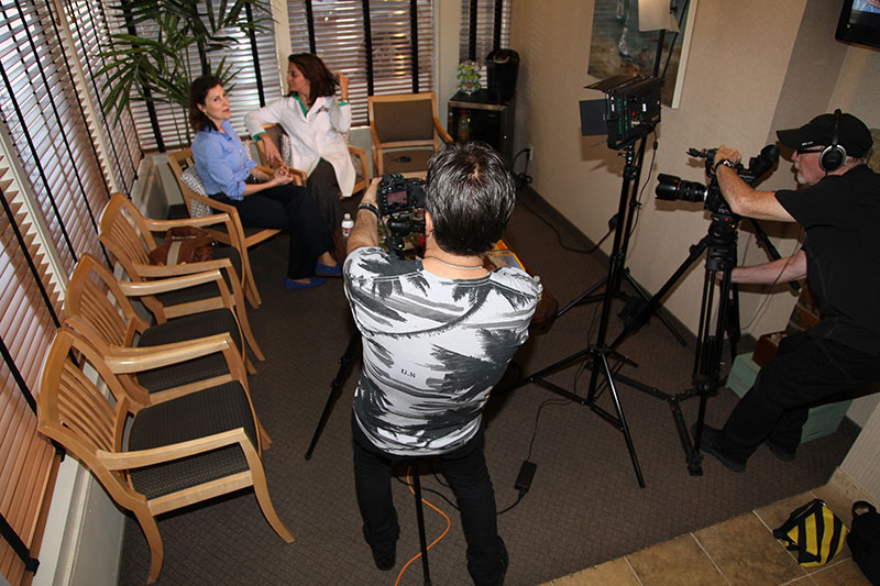 Behind the Scenes Interview Shoot