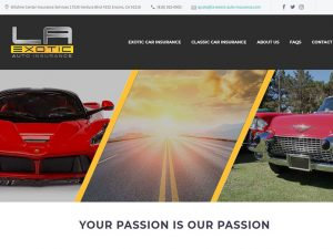 Website Design | Logo Design LA Exotic Auto Insurance
