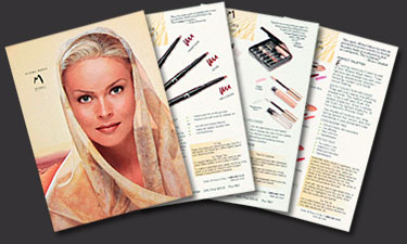 Graphic Design Samples. Cosmetics brochure.