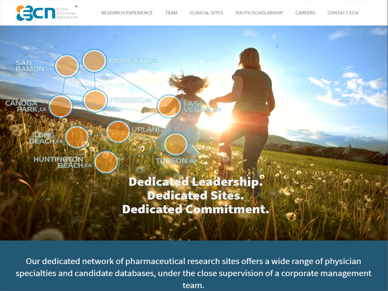 Elite Clinical Network Website
