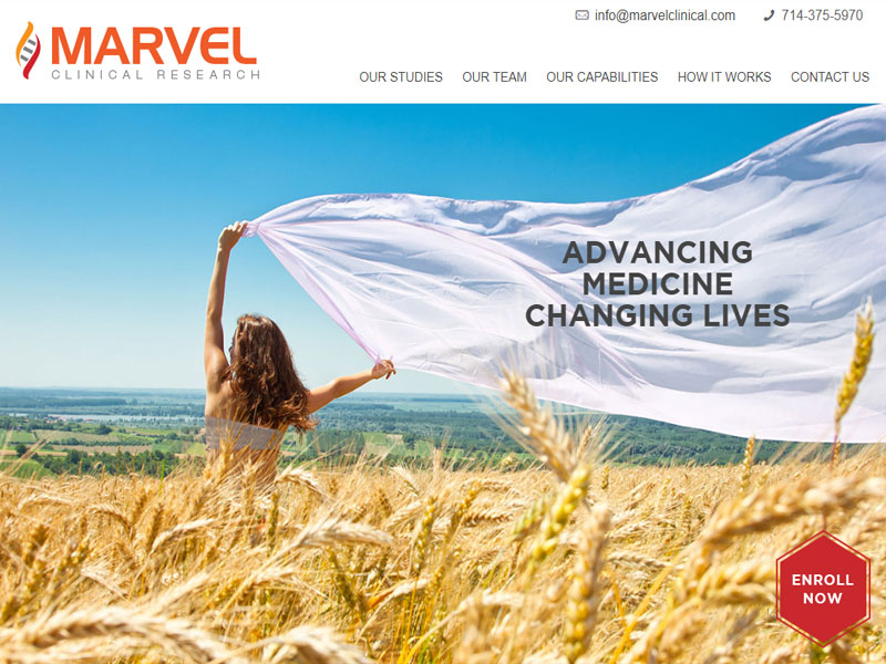 Marvel-Clinical-Research-Webpage