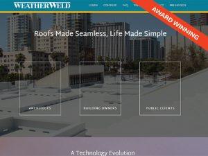 WeatherWeld Award Winning Website Design