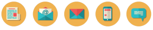 email marketing orange circle