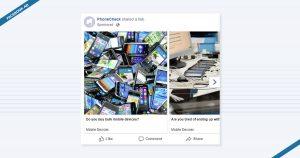 PhoneCheck Facebook Advertisement's