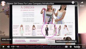 Flower Girl Dress for Less Company Video