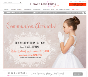 Flower Girl Dress for Less Website Home Page