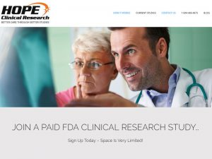 Website Design for Hope Clinic