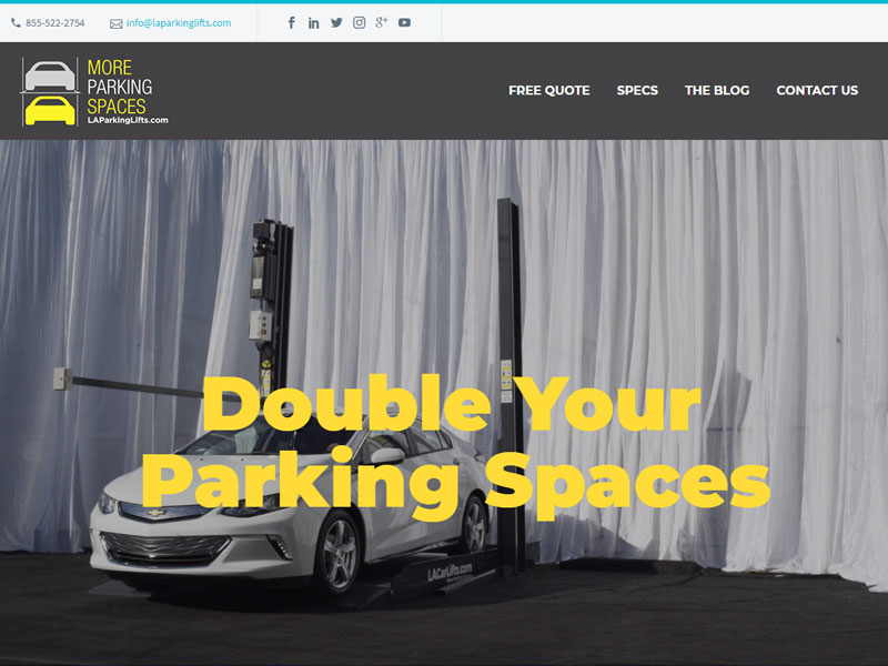 Website Design for LA Parking Lifts