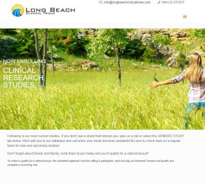 Long Beach Clinical Trials Website Home Page
