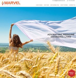 Marvel Clinical Research Website