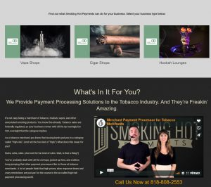 Smoking Hot Payments Website