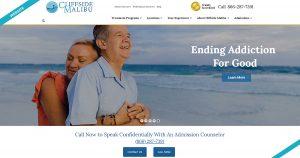 Cliffside Malibu Website Design