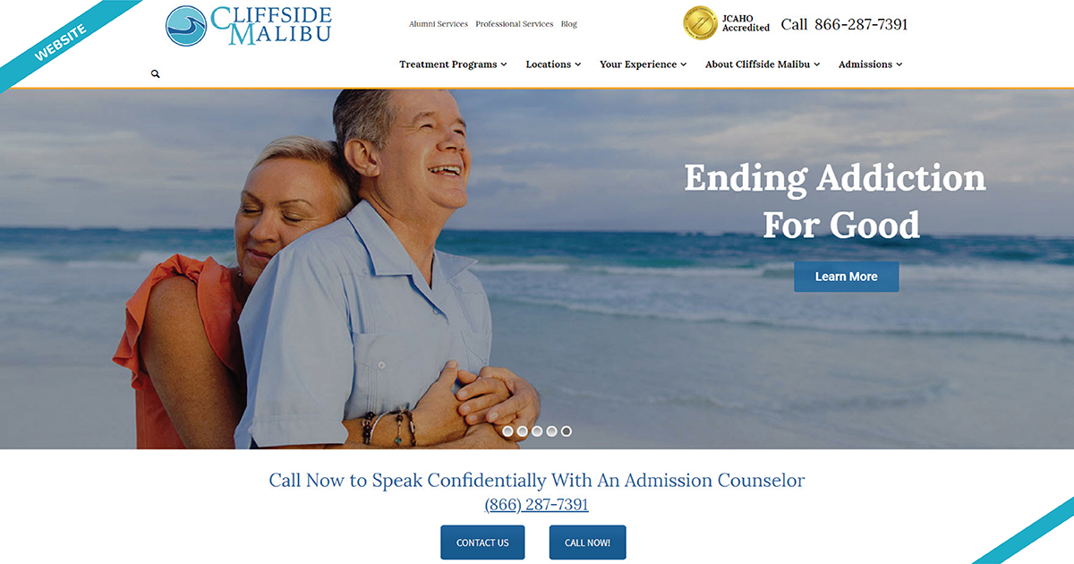 Cliffside Malibu Website Design