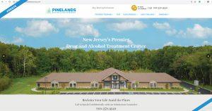 Pinelands Recovery Center website design
