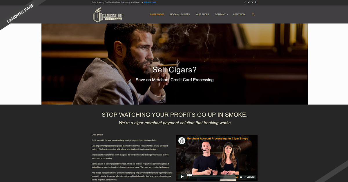 Cigar Landing-Page-1-Smoking-Hot