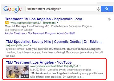 Google Video Positions