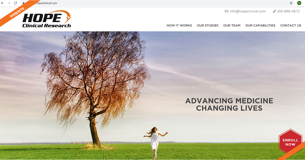 Website Hope Clinical Research