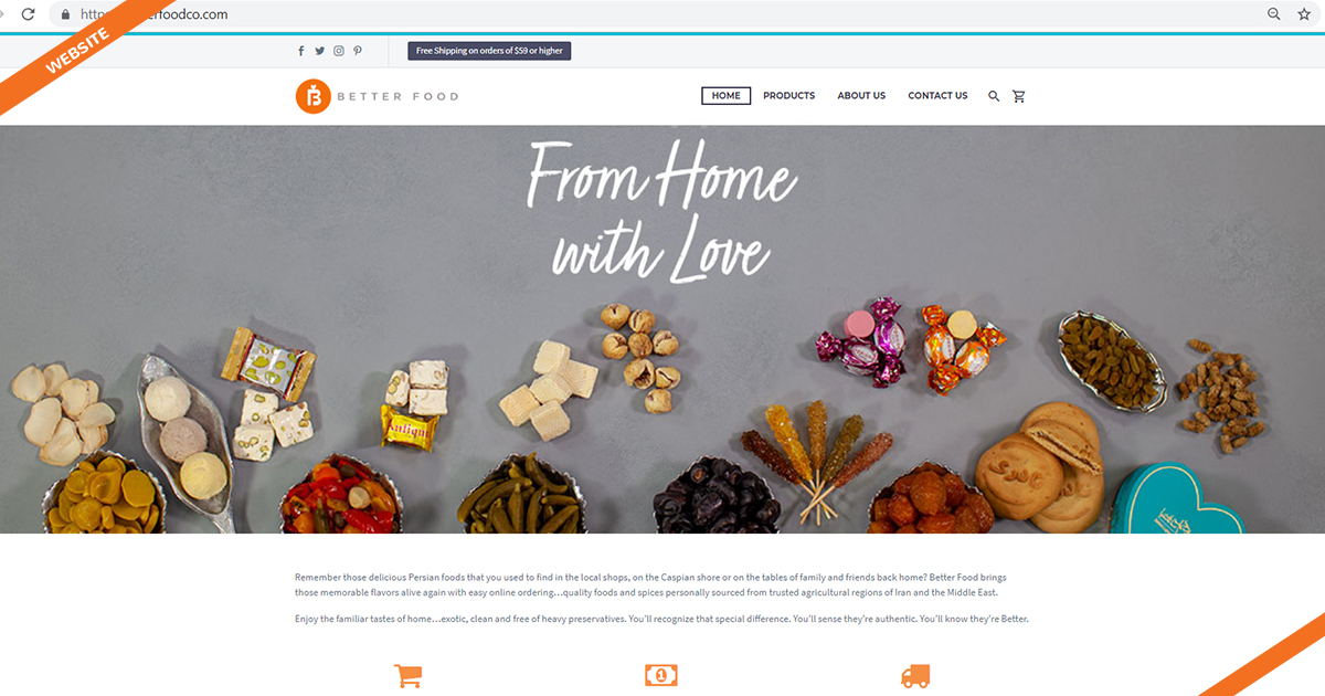 Website Design Better Food Los Angeles Digital Marketing Agency