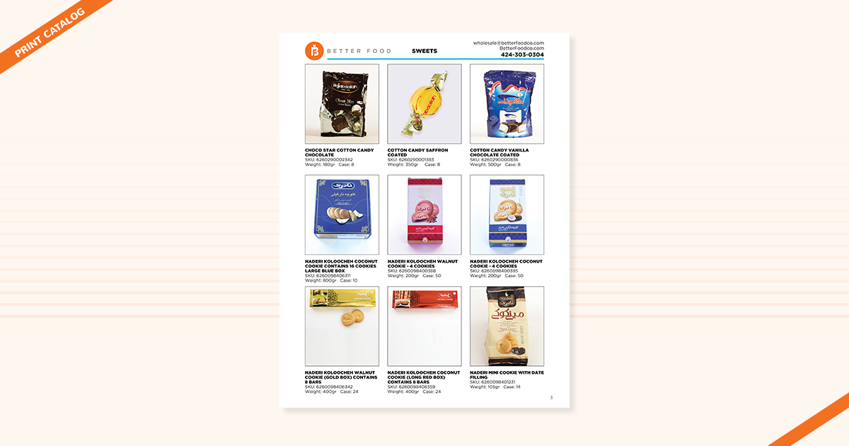 Wholesale print catalog Better Food Los Angeles Digital Marketing Agency