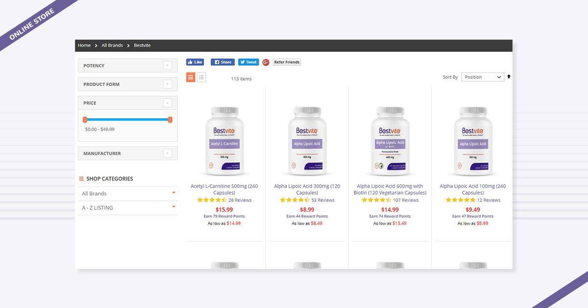 Bestvite ecommerce online store digital marketing agency los angeles