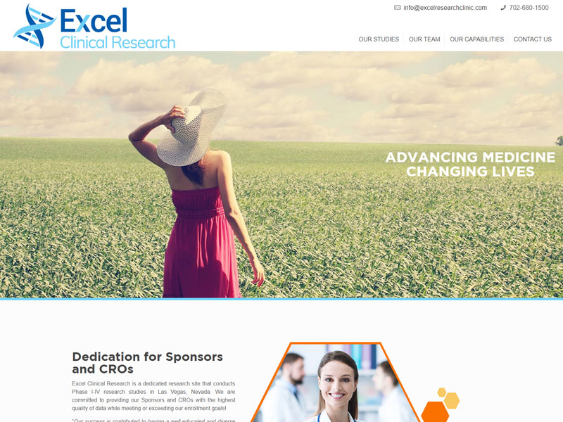 Navazon Excel Clinical Research Website Design