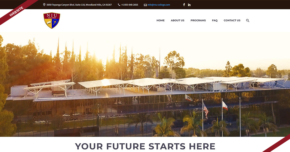 Navazon Website Design for NIU College