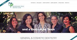Woodland Hills Dental Care Website Design