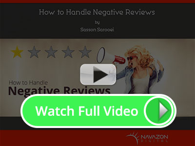How to Handle Negative Reviews. Watch the video on YouTube.