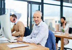 Empowered customer service rep
