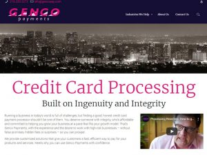 Genco payments home page