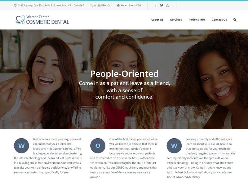 Warner Cosmetic Dental Homepage