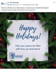Calendar Event Facebook post