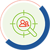 icon for audience targeting for social media marketing