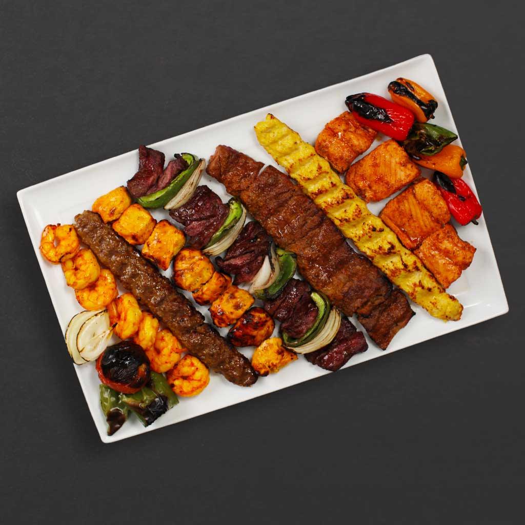 Kebab bar plate