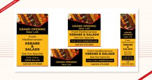 Google banner ads done by Navazon Digital for their client, Kebab Bar.