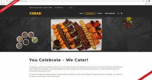 Landing page design for Kebab Bar, created by Navazon Digital.