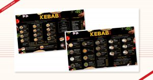 Overhead Menu design for Kebab Bar, created by Navazon Digital.