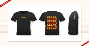 T-shirt design done by Navazon Digital for their client, Kebab Bar.